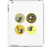 Vector set of happy bee characters iPad Case/Skin