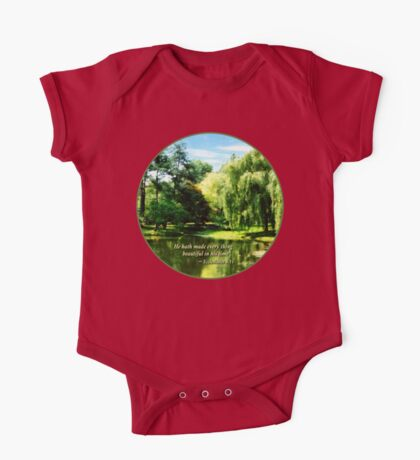 Ecclesiastes 3 11 He Hath Made Everything Beautiful One Piece - Short Sleeve