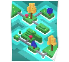 Pixel Islands Poster