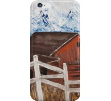 White Fence around the Barn iPhone Case/Skin