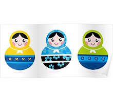 Traditional russian Matrioshka dolls Poster