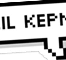 april kepner speech bubble Sticker