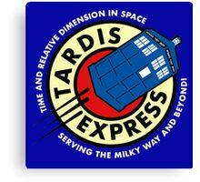 Tardis Express Canvas Print