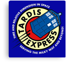 Tardis Express Canvas Print