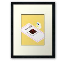 Plate Of Dessert Pixels Framed Print