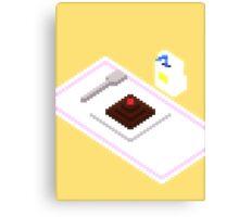 Plate Of Dessert Pixels Canvas Print