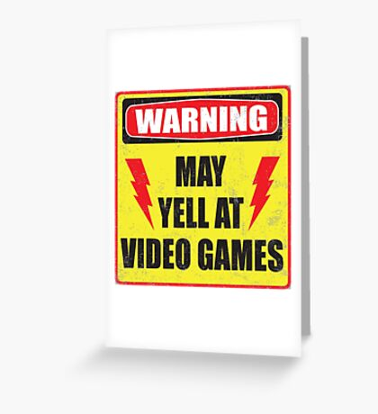 Gamer Warning Greeting Card