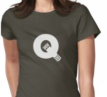 Q is for Quiver - White Womens Fitted T-Shirt