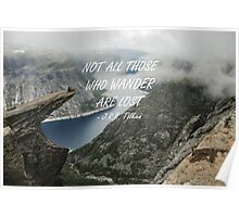 Not all those who wander 25 Poster