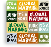 Global Warming Hoax Canvas Print