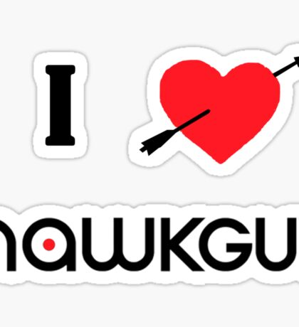 I ♥ Hawkguy Sticker