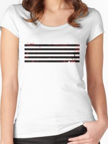 BigBang MADE Distressed Logo Women's Fitted Scoop T-Shirt