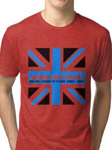 Maximum Britain-Blue Tri-blend T-Shirt