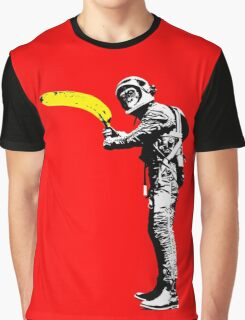 Monkey astronaut with banana Graphic T-Shirt