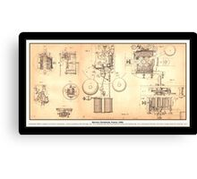 Old Clockwork Diagram Canvas Print
