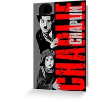 Charlie Chaplin with the kid sneak a peek Greeting Card