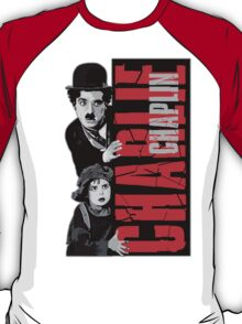 Charlie Chaplin with the kid sneak a peek T-Shirt