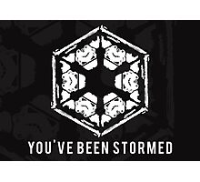You've Been Stormed Photographic Print