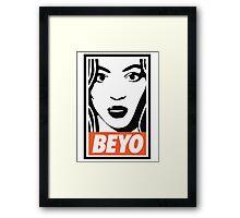 beyo beyonce x dis obey funny collab Framed Print