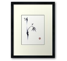 Oneness - original ink brush pen Zen sumie painting Framed Print