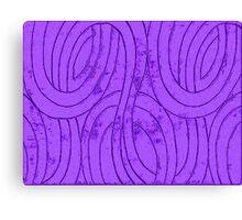 Line Art - The Curves, purple Canvas Print