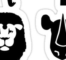 Africa wildlife animals Elephant Giraffe Lion Sticker