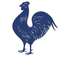 Proud Purple Rooster Photographic Print