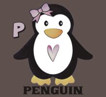 P is for Penguin One Piece - Short Sleeve