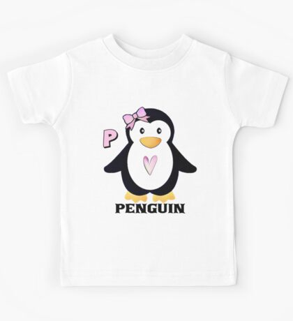P is for Penguin Kids Tee