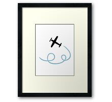 Plane aviation Framed Print