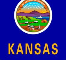 Kansas State Flag Graphic USA Styling Sticker