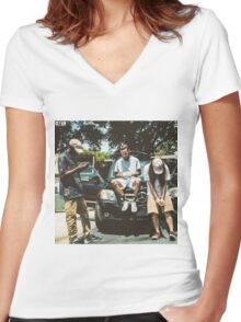 $uicideboy$ g59 cover Women's Fitted V-Neck T-Shirt