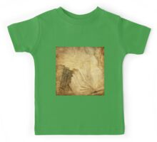 Rustic,collage,books,parchments,shabby chic,elegant,vintage Kids Tee