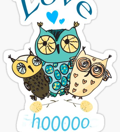Three Little Owls Sticker