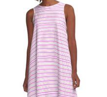 Lindas Lineas Horizontales  color Rosa A-Line Dress