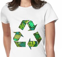 merge earth Womens Fitted T-Shirt