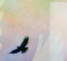 Abstract Soaring Hawk Sticker