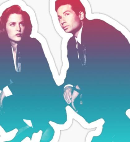 Mulder and Scully squatting!!!! Sticker