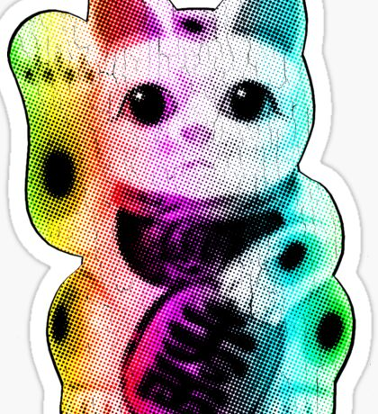 Pop Art Lucky Cat - Maneki Neko Sticker