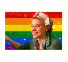 Jillian Holtzmann Gay Flag Art Print