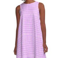 Linda textura con lineas Rosas A-Line Dress