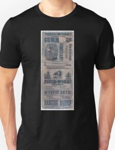 Performing Arts Posters Professor Cummings the celebrated magician vocalist and comedian 0209 Unisex T-Shirt