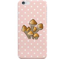 Vegetable - Mushrooms (Toadstool) - Orange White  iPhone Case/Skin