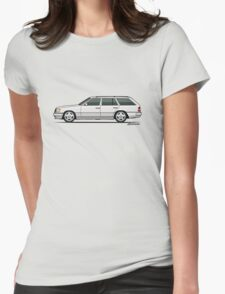 Mercedes Benz W124 300TE Wagon (White) Womens Fitted T-Shirt