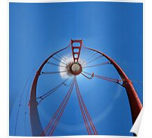 Flying High with the Golden Gate Bridge Poster