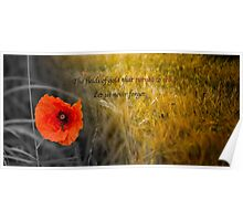 The fields of gold - rememberance Poster