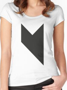 Music on  Women's Fitted Scoop T-Shirt