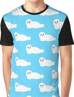 Pattern of white baby seal. Graphic T-Shirt