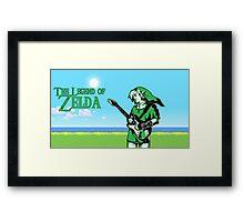 The Legend of Zelda - Guitar Link Framed Print