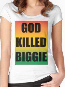God Killed Biggie Women's Fitted Scoop T-Shirt